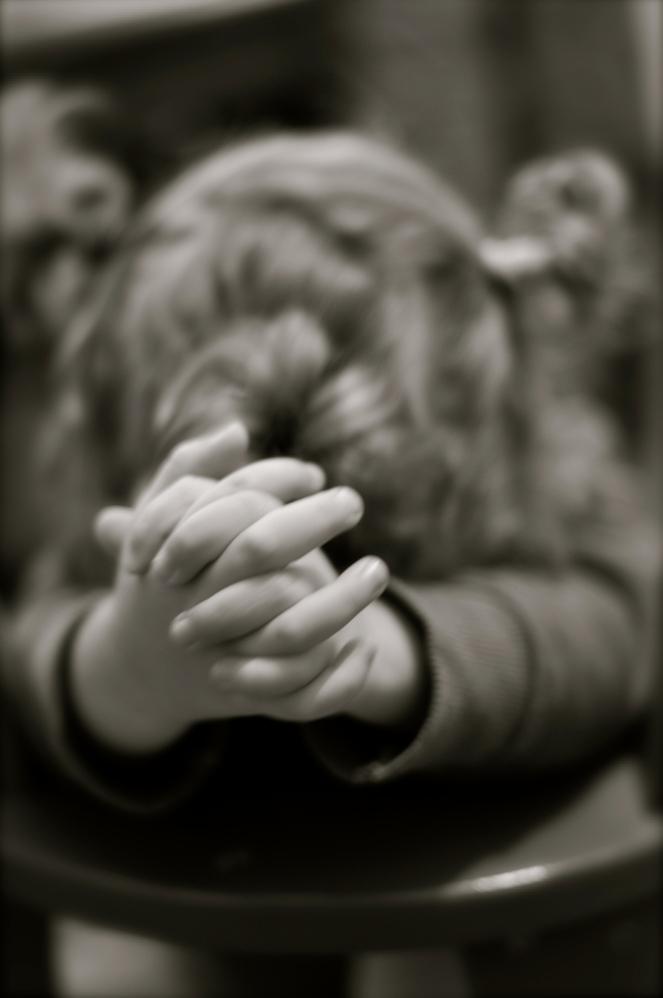 David, praying